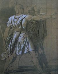 Study for the Oath of the Horatii the Three Horatii.jpg
