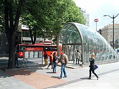 Subway escalator entrance canopy (18802893862).jpg