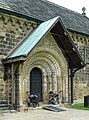 Suffer Little Children to Come Unto Me - Porch and south doorway of St John the Baptist Church, Adel, Leeds.jpg