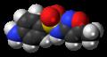Sulfamethoxazole molecule spacefill.png