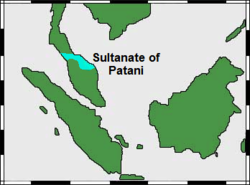 Map of the Sultanate of Patani