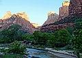 Sunrise on The Patriarchs, Zion NP 2014 (30208156123).jpg