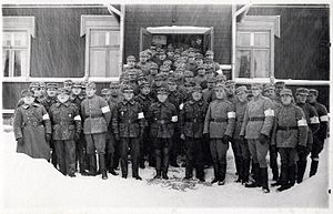 Finnish Defence Forces - White Guard in Nummi. White Guards were appointed as the official military forces of the Finnish government on 25 January 1918.