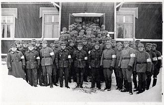 Finnish Civil War - White Guardsmen in Nummi.