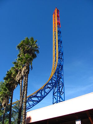 G-force - The Superman: Escape from Krypton roller coaster at Six Flags Magic Mountain provides 6.5 seconds of ballistic weightlessness.