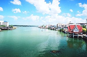Tapi River, Thailand - Waterfront in Surat Thani