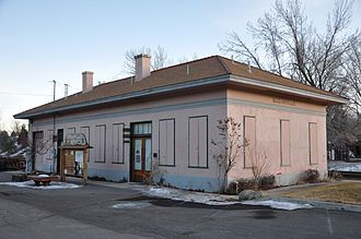 Susanville, California - Susanville Railroad Depot, on the National Register of Historic Places, in 2013
