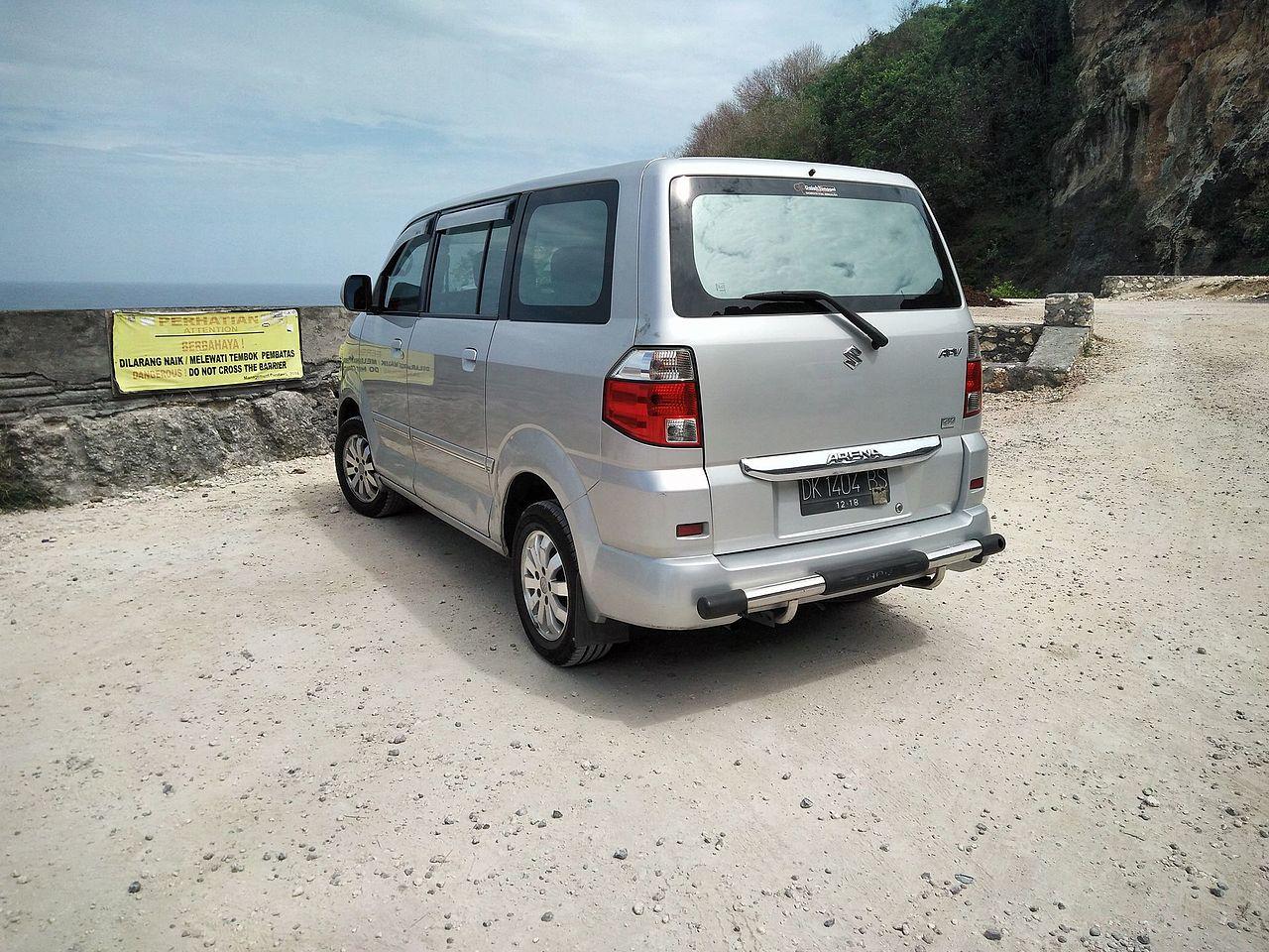 File:Suzuki APV Arena GX (rear), Pandawa Beach.jpg