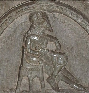 Sverker I of Sweden - Image from the church of Heda, sometimes assumed to be King Sverker