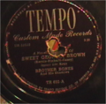 Sweet Georgia Brown Tempo Lable Recorded by Brother Bones and His Shadows.PNG