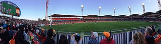 Sydney Showground (Olympic Park) - Sydney Showground Stadium during an Australian rules football game