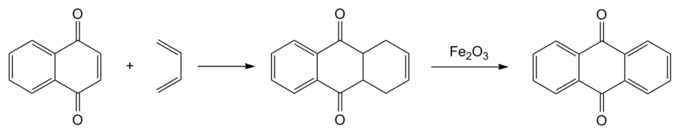 Synthese van antrachinon