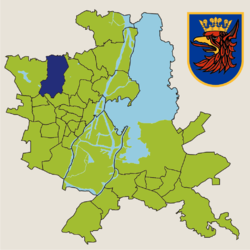 Location of Osów within Szczecin