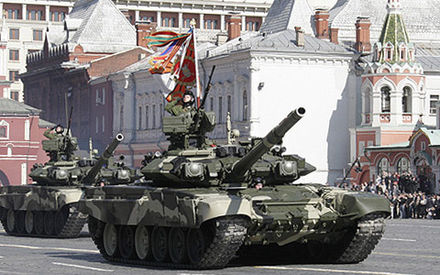 "The Russian T-90 is fitted with a ""three-tiered"" protection systems: