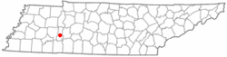 Location of Decaturville, Tennessee
