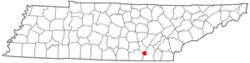Location of Fairmount, Tennessee