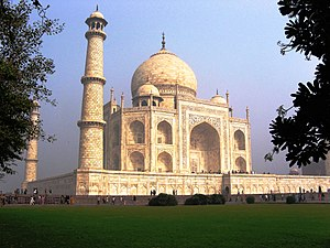 Taj Mahal, a view from the lawn. Taj Mahal, Ag...