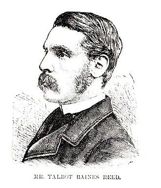 Talbot Baines Reed - Pen-and-ink portrait of Reed, ca. 1880