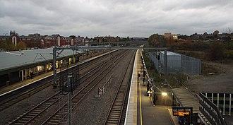 Tamworth railway station - Tamworth Station looking Northbound on the West Coast Main Line