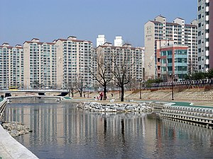Yongin - Image: Tancheon 06 An artificial island in Jukjeon