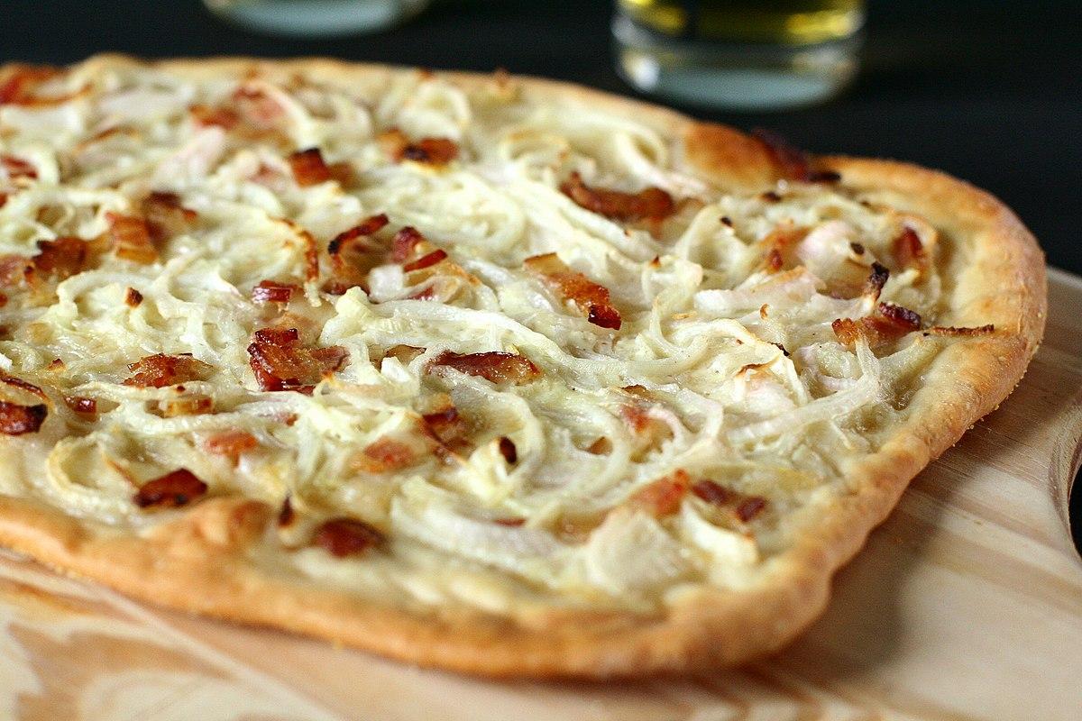 pizza creme fraiche recept
