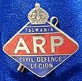Tasmania WWII Air Raid Patrol Enamel Badge, obverse.jpg