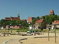 Tczew, pohled na centrum města od nábřeží Visly.JPG