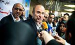 Tehran Mayor Mohammad Bagher Ghalibaf in opening of Khaje Abdullah Ansari Metro Station 02.jpg