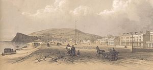 Teignmouth -  A view of Teignmouth, the Den and the Ness at Shaldon in the 19th century.