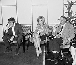 Terence Stamp, Monica Vitti and Joseph Losey 1965.jpg