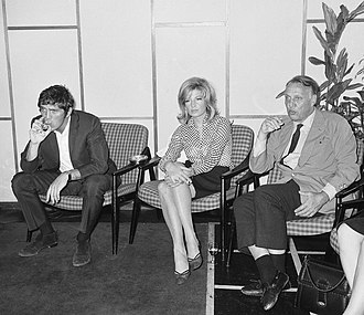 Terence Stamp - Stamp with actress Monica Vitti and director Joseph Losey, circa 1965