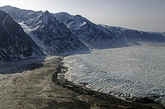 Terminal moraine - Terminal moraine of Wordie Glacier, Greenland