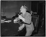 Testifies before House Patents Committee. Washington, D.C., Feb. 7. Burgess Meredith, star of 'Winterset' and Acting President of the Actors Equity Association, was one of the group of LCCN2016878132.jpg