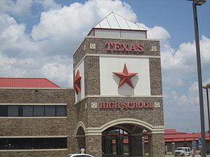 Texas High School - Image: Texas High School, Texarkana IMG 6386