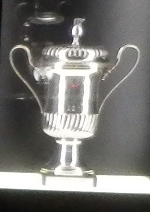 1983–84 S.L. Benfica season - The Iberian Cup trophy on display at Museu Cosme Damião