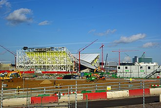 London Aquatics Centre - Construction in February 2011