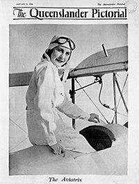 The Aviatrix, Cover of The Queenslander Pictorial, 1936 (5098777518).jpg
