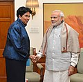 The Chairperson and CEO PepsiCo, Ms. Indra Nooyi calls on the Prime Minister, Shri Narendra Modi, in New Delhi on December 10, 2015.jpg