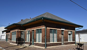 National Register of Historic Places listings in Appanoose County, Iowa - Image: The Chicago, Burlington, and Quincy Railroad Depot