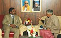 The Chief Minister of Delhi, Smt. Sheila Dikshit meeting with the Union Minister of Environment and Forests, Shri A. Raja, in New Delhi on February 21, 2007.jpg
