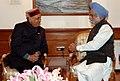 The Chief Minister of Himachal Pradesh, Shri Prem Kumar Dhumal meeting with the Prime Minister Dr. Manmohan Singh, in New Delhi on December 31, 2007.jpg