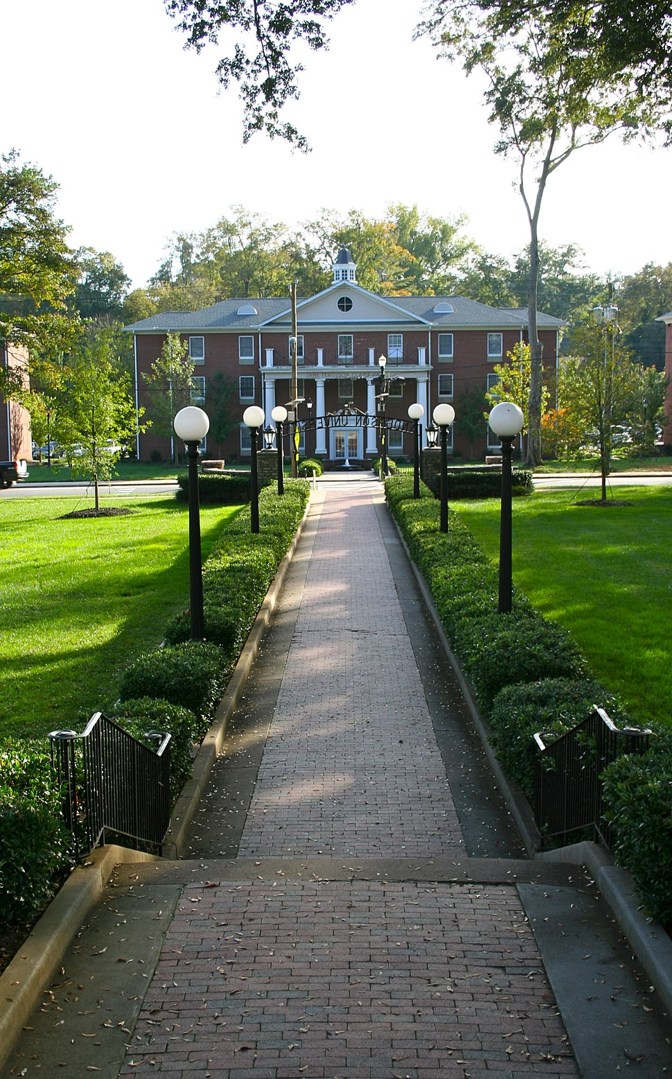 The Front Steps on the Lawn of Anderson University, South Carolina