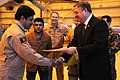 The Honorable Michael Donley, Secretary of the Air Force, presents Mohammad Bashir, Afghan National Army Air Corp (ANAAC), with his loadmaster certificate (4330642108).jpg
