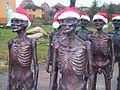 The Hunger March with christmas costumes..JPG