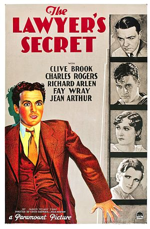 The Lawyer's Secret - Theatrical release poster