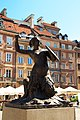 The Mermaid of Warsaw sculpture in Old Town Market Place.jpg