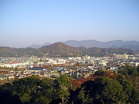 The Mt Sawa is looked at from Hikone Castle Shiga.jpg