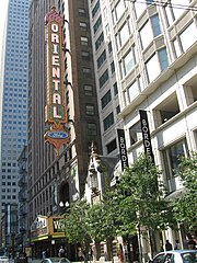 The Oriental Theatre, Chicago, where Wicked has played over 1,000 performances