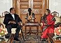 The President of Republic of Malawi, Ngwazi Prof. Bingu wa Mutharika meeting the President, Smt. Pratibha Devisingh Patil, at Rashtrapati Bhavan, in New Delhi on November 03, 2010.jpg