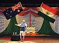 The Prime Minister, Shri Narendra Modi addressing the gathering in the Community Reception, at Allphones Arena, in Sydney, Australia on November 17, 2014 (2).jpg
